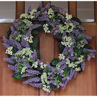 Bishops Lace Spring Front Door Wreath 22 Inch
