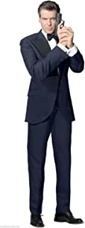Hollywoodprop PIERCE BROSNAN JAMES BOND 007 GOLDENEYE TOMORROW NEVER DIES THE WORLD IS NOT ENOUGH DIE ANOTHER DAY LIFESIZE CARDBOARD STANDUP STANDEE CUTOUT POSTER FIGURE