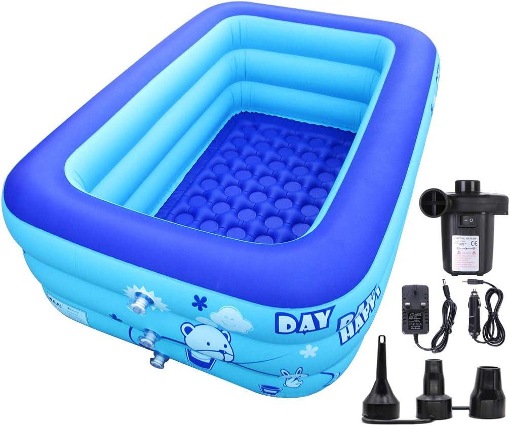 XL Aikchi Aufblasbare Schwimmbad Badewanne Whirlpools mit elektrischer Luftpumpe f/ür Bad und Garten