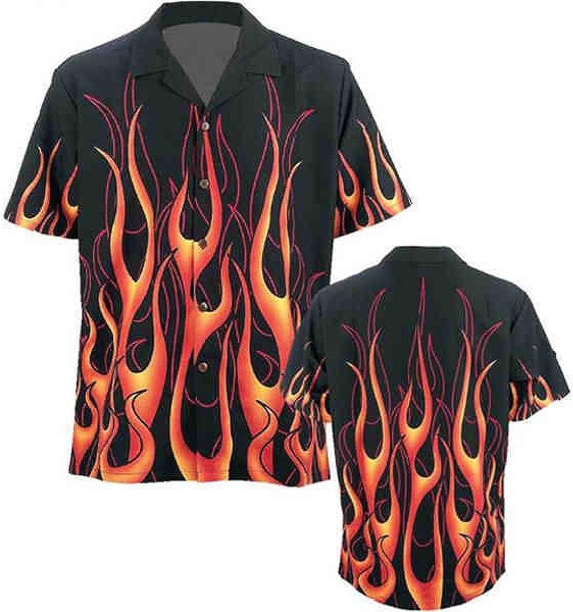 Camisa para Adulto con diseño de Llamas con águila y Texto ...