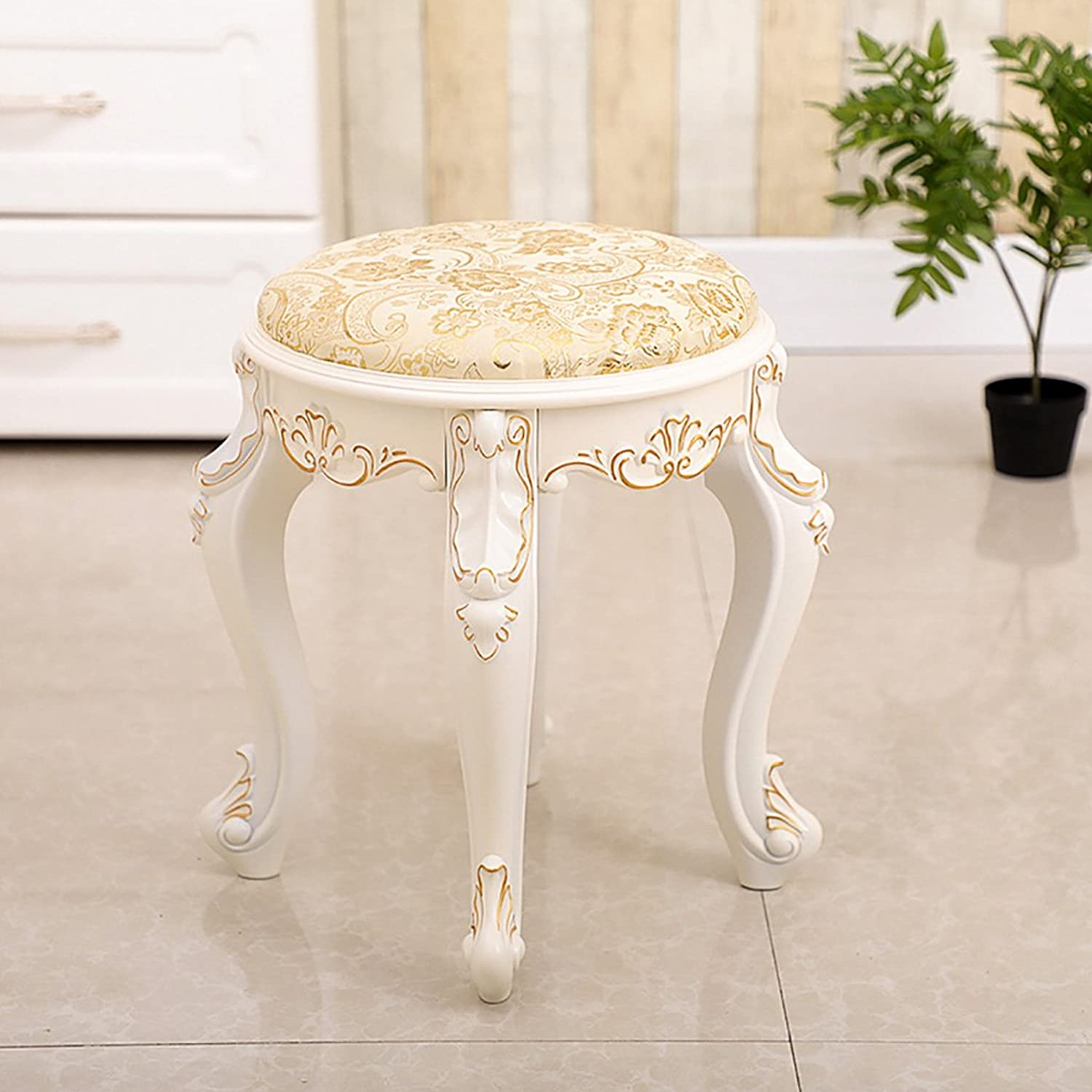 DNSJB Fashion Pouffe Stool Dressing Table Stool Round shoes Stool Living Room Footstool Simple Nordic Sofa Beach (color   D)