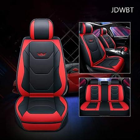 Yangd Sitzbezüge Leder Universal Autositzbezüge Set Wasserdicht Vordersitze Und Rückbank Komplettset For Auto Zubehör Innenraum Color Black Red Auto
