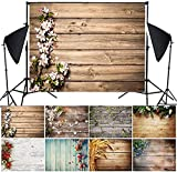 VARWANEO 3D Background Cloth Imitation Wood Grain Photography Shooting Background Cloth Props Board Gift