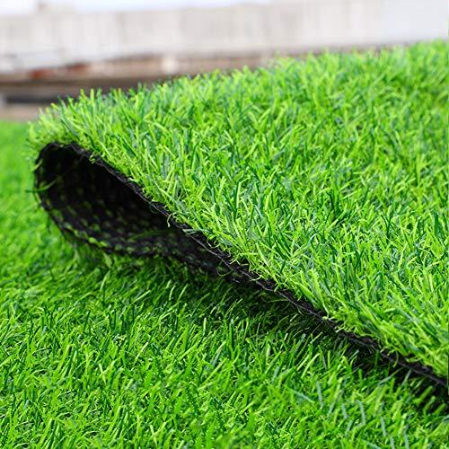 Hoge dichtheid Kunstgras Turf, 25 mm Synthetische Gras Patch Mat Met Drainage Gaten Huisdier Turf Astroturf Tapijt Voor Binnen Buiten 200x250cm(79x98inch) Groen