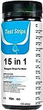Swide Tiras Reactivas pH Piscinas 100 Piezas Papel de Prueba de Agua 15 en 1 Tiras de Analisis de Agua Agua Potable pHCloro TotalCloro LibreAlcalinidad TotalDureza del Agua Best Service