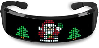 DR.PREPARE LED Glasses, Customizable Bluetooth LED Glowing Glasses for Parties with Text, Animation, Customized Graffiti D...