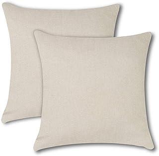 No/ël T housse de coussin d/écorative pour canap/é chambre /à coucher Soleebee Housse de coussin d/écorative en coton et lin pour voiture 45 x 45 cm