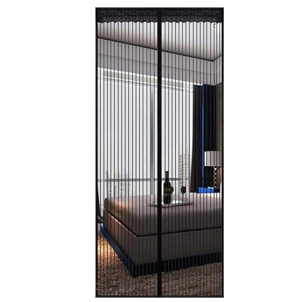 どんよりしたメーター根拠ドアのための黒い磁気蚊帳100x240cm、ネット、シングルラッチ、昆虫の侵入を防ぐ、外気を取り入れる、屋外で