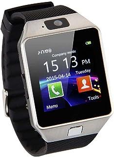 EMEBAY - Reloj inteligente Bluetooth/reloj inteligente Bluetooth Smart Watch con cámara para Huawei Xiaomi Sony Samsung y de otros Android Smartphones DZ09 (Inactive Podómetro)