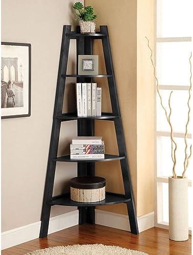 lowest COLIBYOU sale 5 Shelves Corner Shelf Stand Wood Display 2021 Storage Home Furniture 5 Tier Expresso online sale