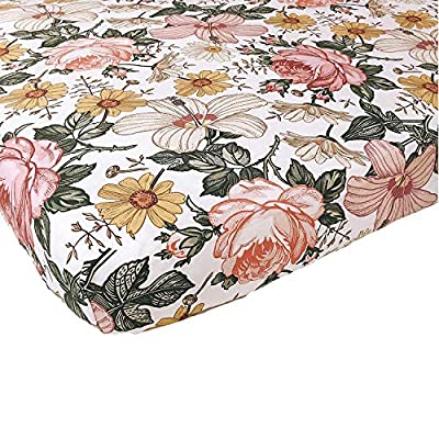 Woven Cotton Crib Sheet for Baby Girl