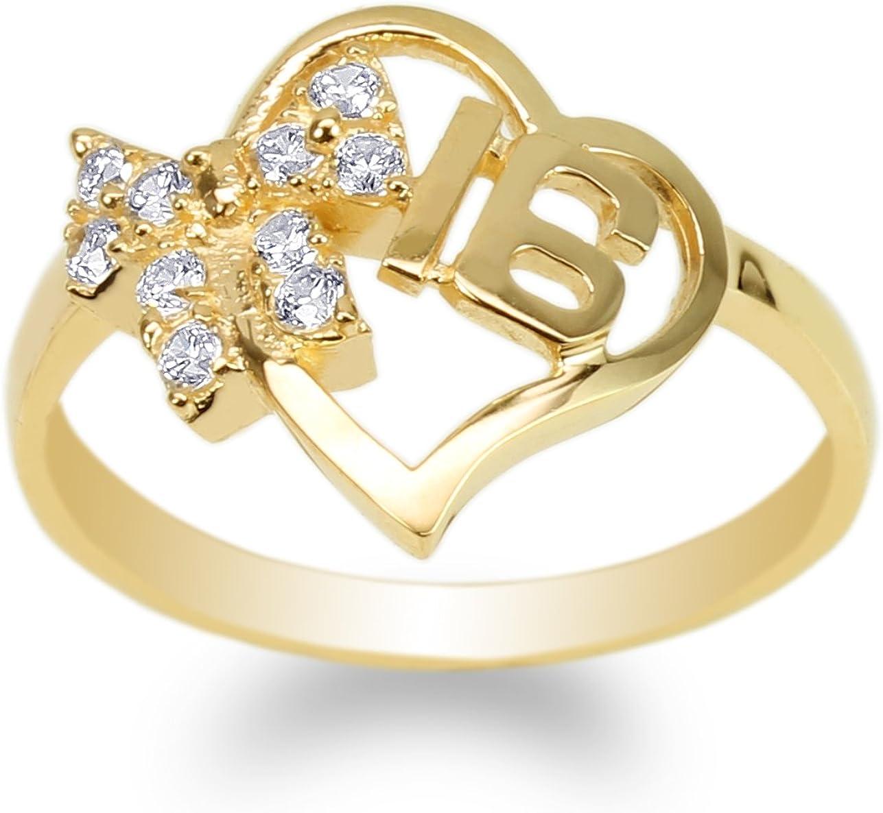 JamesJenny Womens 10K Yellow Gold Ribbon Direct store Shaped 16 Sweet Heart R 35% OFF