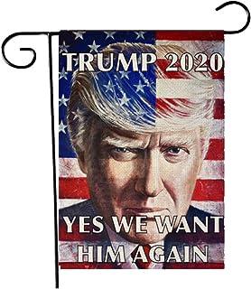 Cappus Donald Trump 2020 US American Presidential Election Garden Flag, Double-Sided Flag Banner, Garden Yard Lawn Outdoor...