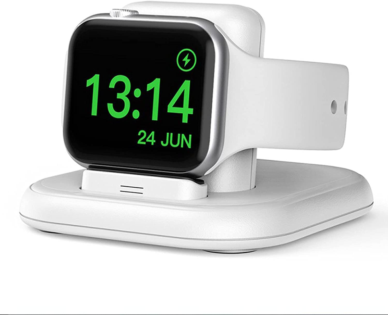 Charging Stand for Apple Watch, Portable Wireless Watch Charger Smart Magnetic Wireless Charging Station Compatible with Apple iWatch Series 6 5 4 3 2,SE,44/40/42/38mm (White)