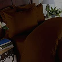 Elegant Comfort 3 Piece 1500 Thread Count Luxury Ultra Soft Egyptian Quality Coziest Duvet Cover Set, Full/Queen, Mocha Chocolate/Bronze
