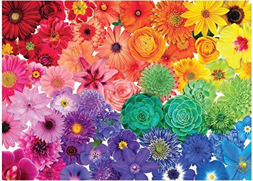 yoofun Puzzle de 1000 Pièces, Puzzle pour Adulte et Enfant 70*50cm (Fleurs Colorées)