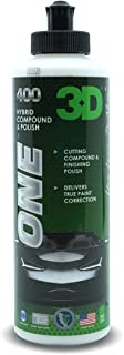 3D One - Car Scratch & Swirl Remover - Rubbing Compound & Finishing Polish - True Car Paint...