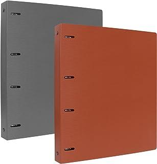 Toplive 2 pièces 4 anneaux classeur, classeur A4, contenir jusqu'à 220 feuilles A4/papier à lettre avec poche intérieure t...