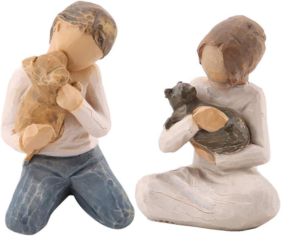 Estatua de escultura liviana, figura de resina, pantalla de estante con forma de mascotas duradera para escritorio para tablero de instrumentos de automóvil