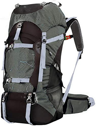 KJICSGF Sac à Dos 60L Randonnée Sac à Dos Daypack pour Hommes Et Femmes Camping Imperméable De Voyage Sac à Dos en Plein Air Escalade Sac De Sport