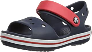 Crocs Kids' Crocband Sandal, Blue (Navy/Red)