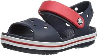 Crocs Boys Sandal, Navy/Red, 4 US