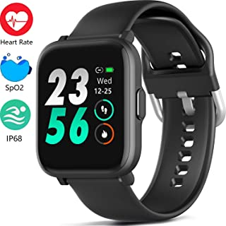 MorePro 18 Sports Mode Smart Watch with Music Control, DIY Screen Fitness Tracker with Blood...