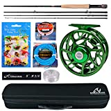 BAIKALBASS Fly Fishing Rod and Reel Combos 8' 9' Fly Rod Fly Line & Backing Fly Baits Full Kit Anglers and Beginners Complete Package with Travel Case 7\/9#