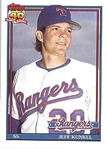 #562 Jeff Kunkel Texas Rangers Baseball Card