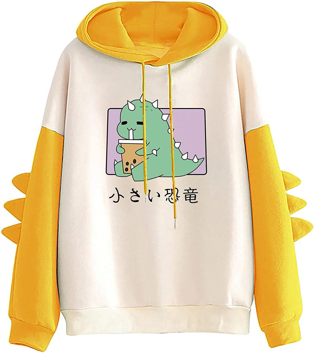 AODONG Hoodie for Womens Fun, Pullover Women's Casual Dinosaur Printed Hooded Long Sleeves Tunic Styling Tops Blouse Shirts