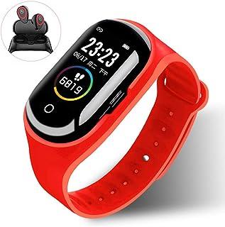 HZYYZH Inteligente Pulsera con Bluetooth 5.0 Auriculares Inalámbricos Pace Presión Arterial Monitoreo del Ritmo Cardíaco Pulsera Deportes