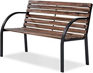 Danube Home Eucalyptus Wooden Park Bench, Light Brown - 122 x 60 x 79 cm