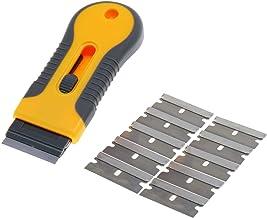 Razor Blade Scraper and 10pcs Replaceable Razor Blades,Multi-Purpose Cleaning Razor Scraper for Decals, Stickers, Labels, ...