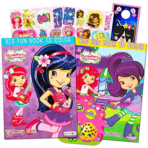 Strawberry Shortcake Coloring Book Super Set -- 2 Jumbo Coloring Books With  Over 100 Stickers- Buy Online In Grenada At Grenada.desertcart.com.  ProductId : 19401447.