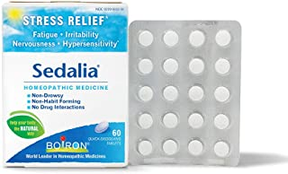 Boiron Sedalia Tablets Homeopathic Medicine for Stress Relief, Fatigue, Irritability, Nervousness, Hypersensitivity, Non-d...