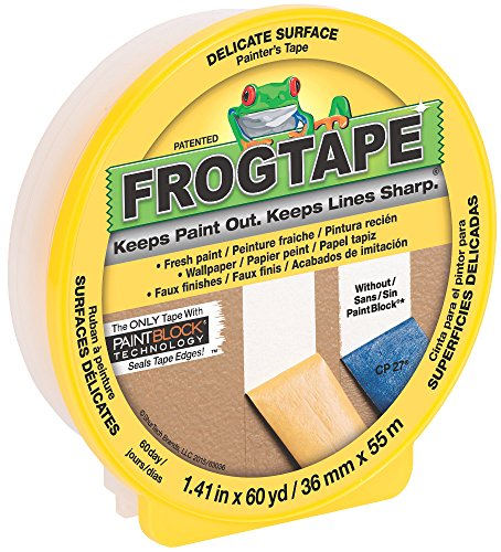 Shurtape Technologies Frogtape 217143 Multi-Use Delicate Surface Paint Block Tape, 36mm x 55m, 1-1/2-Inch x 60-Yard -  040074022072