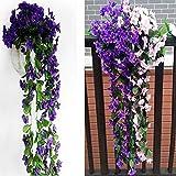 Zoom IMG-2 2 pezzi fiori artificiali pendenti