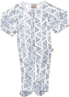 Babyushka Organic Shibori Collection Short Sleeve Kimono Romper, 00