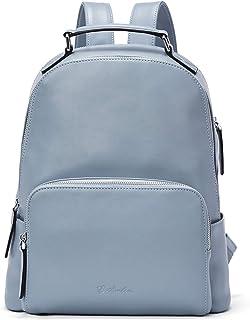 BOSTANTEN Damen Leder Rucksack 13 Zoll Laptoprucksack Vintage Reiserucksack Casual Backpack Daypacks Blau