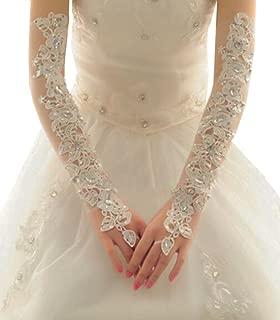 White Exquisite Wedding Gloves Bride Bridal Wedding Dress Lace Gloves