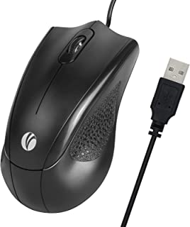 VCOM 3-Button USB Wired Mouse with 6-Foot Cord & 1200 DPI, Right or Left Hand Use for Work Study Home, Ergonomic Optical M...