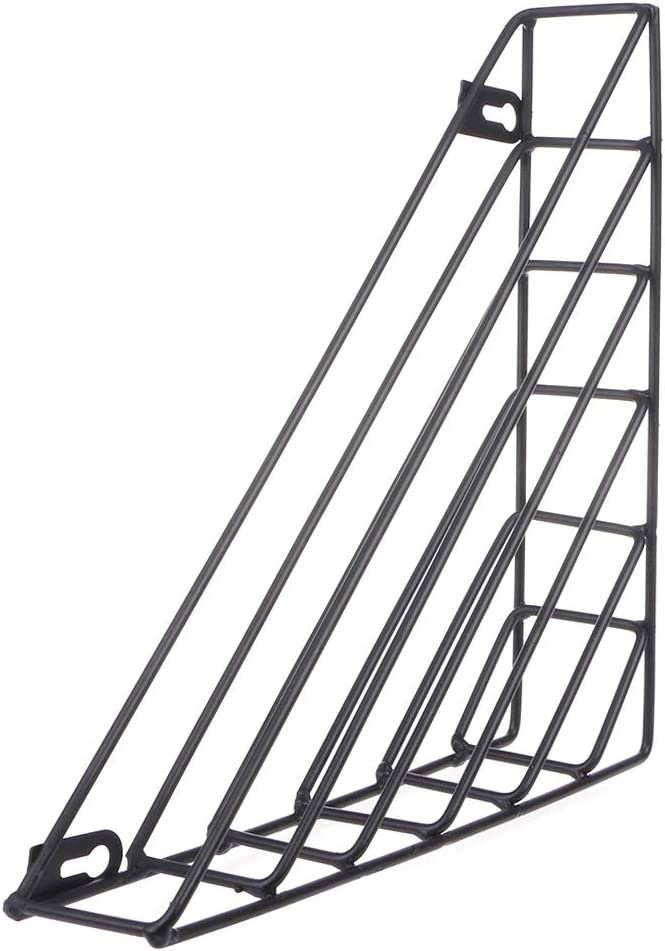 BMBN Nordic Geometric Iron Magazine Max 61% OFF Many popular brands Hom Basket Storage Wall Rack