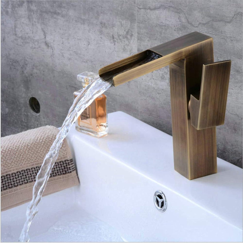 Floungey BadinsGrößetionen Waschtischarmaturen Küchenarmaturen Geneigte Spüle Antiken Niedrigen Wasserfall Wasserhahn Messing Waschbecken Wasserhahn