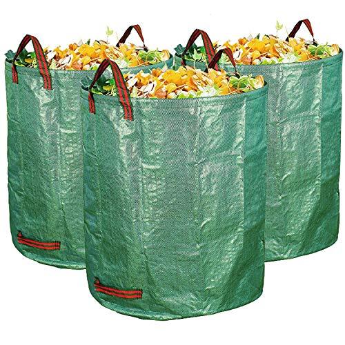 Quailitas Hochwertige Gartenabfallsäcke, 272 l, 3 Stück, Maße: H 76 cm, T 67 cm.