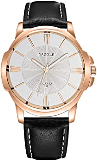YAZOLE Men Quartz Watch Exquisite Male Wristwatch with Blue Light Blocking Mineral Glass Accurate Time Luminous Pointer 3A...