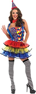 Womens Clown Costumes Adults Circus Carnival Dress Outfits - Choice of Styles