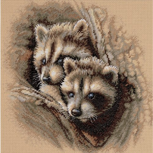 Dimensions Needlecrafts Counted Cross Stitch, Two Raccoon Cubs