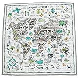 Platz Kinder Krabbeldecke Boden Spielmatte Spielzeug Spiel Abenteuer Weltkarte Folding Pad Baby Schlafzimmer Dekoration Teppich 120x120 Cm -