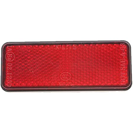 Grote 40132-3 Mini Stick-On Red Rectangular Reflector