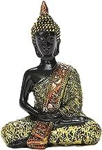 Baoblaze Buddha Statue for Home, Meditation Thai Shakyamuni Sitting Figurine Resin Craft, Desktop Living Room Office Yoga ...